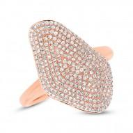 Madison E 0.63ct 14k Rose Gold Diamond Pave Lady