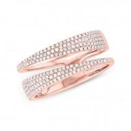 Madison E 0.45ct 14k Rose Gold Diamond Pave Lady