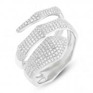 Madison E 0.64ct 14k White Gold Diamond Pave Snake Ring
