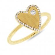 Madison E 0.14ct 14k Yellow Gold Diamond Heart Lady
