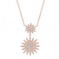 Madison E 0.32ct 14k Rose Gold Diamond Lady