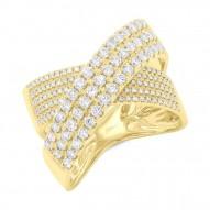 Madison E 1.16ct 14k Yellow Gold Diamond Bridge Ring