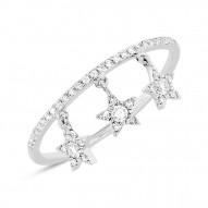 Madison E 0.19ct 14k White Gold Diamond Star Ring