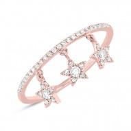 Madison E 0.19ct 14k Rose Gold Diamond Star Ring Size 5.5
