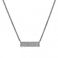 Madison E 0.25ct 14k Black Rhodium Diamond Pave Pendant