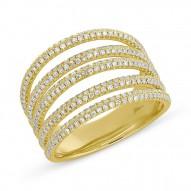 Madison E 0.83ct 14k Yellow Gold Diamond Pave Lady