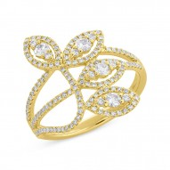 Madison E 0.61ct 14k Yellow Gold Diamond Leaf Lady