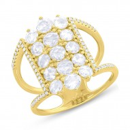 Madison E 1.36ct 14k Yellow Gold Diamond Rose Cut Lady