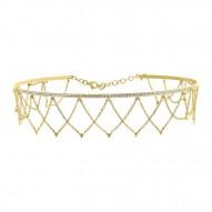 Madison E 0.79ct 14k Yellow Gold Diamond Choker Necklace