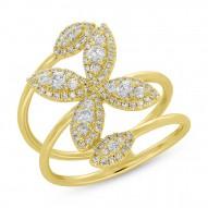 Madison E 0.60ct 14k Yellow Gold Diamond Flower Lady