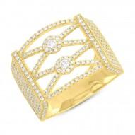 Madison E 0.90ct 14k Yellow Gold Diamond Pave Lady