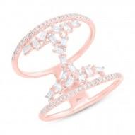Madison E 0.55ct 14k Rose Gold Diamond Baguette Lady