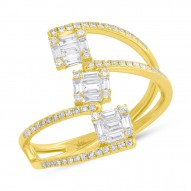 Madison E 0.55ct 14k Yellow Gold Diamond Baguette Ring