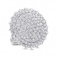 Madison E 5.10ct 18k White Gold Diamond Pave Lady