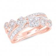 Madison E 1.18ct 14k Rose Gold Diamond Lady