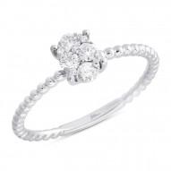 Madison E 0.27ct 14k White Gold Diamond Lady
