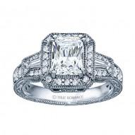 Radiant Diamond Vintage Engagement Ring