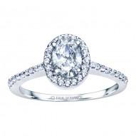 Rm1301v-14k White Gold Oval Cut Halo Diamond Engagement Ring