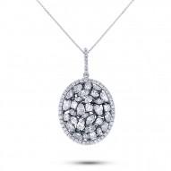 Madison E 3.48ct 14k Two-tone Gold with Black Rhodium Diamond Pendant