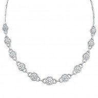 Madison E 5.15ct 14k White Gold Diamond Necklace