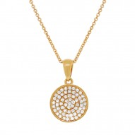 Madison E 0.17ct 14k Yellow Gold Diamond Pave Pendant
