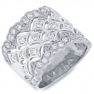 Madison E 0.83ct 18k White Gold Diamond Lady