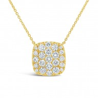 Madison E 1.09ct 14k Yellow Gold Diamond Pave Necklace