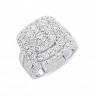 Madison E 3.93ct 14k White Gold Diamond Cluster Lady