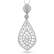 Madison E 2.25ct 14k White Gold Diamond Pendant