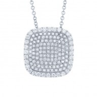 Madison E 0.60ct 14k White Gold Diamond Pave Pendant