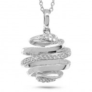 Madison E 0.08ct 14k White Gold Diamond Pendant