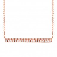 Madison E 0.34ct 14k Rose Gold Diamond Bar Necklace