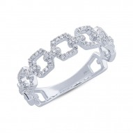 Madison E 0.22ct 14k White Gold Diamond Link Ring