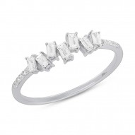 Madison E 0.29ct 14k White Gold Diamond Baguette Lady