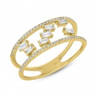 Madison E 0.36ct 14k Yellow Gold Diamond Baguette Lady