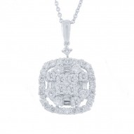 Madison E 1.33ct 18k White Gold Diamond Pendant