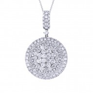 Madison E 5.04ct 18k White Gold Diamond Pave Pendant