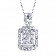 Madison E 0.71ct 14k White Gold Diamond Necklace