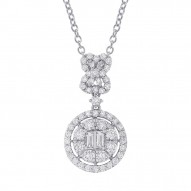 Madison E 1.24ct 18k White Gold Diamond Pendant