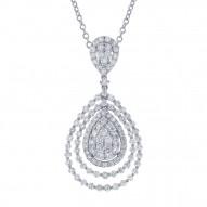 Madison E 2.86ct 18k White Gold Diamond Pendant