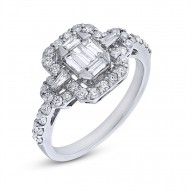 Madison E 0.86ct 18k White Gold Diamond Lady
