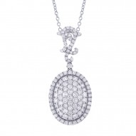 Madison E 3.18ct 18k White Gold Diamond Pendant