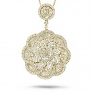 Madison E 4.70ct 18k Yellow Gold Diamond Pendant