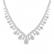 Madison E 20.57ct 18k White Gold Diamond Necklace