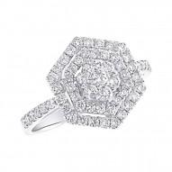 Madison E 0.97ct 18k White Gold Diamond Lady