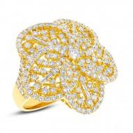 Madison E 4.18ct 18k Yellow Gold Diamond Flower Ring
