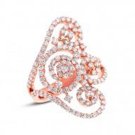 Madison E 1.89ct 18k Rose Gold Diamond Lady