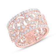 Madison E 2.60ct 14k Rose Gold Diamond Lady