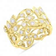 Madison E 1.60ct 14k Yellow Gold Diamond Leaf Lady