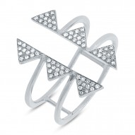Madison E 0.22ct 14k White Gold Diamond Pave Triangle Ring